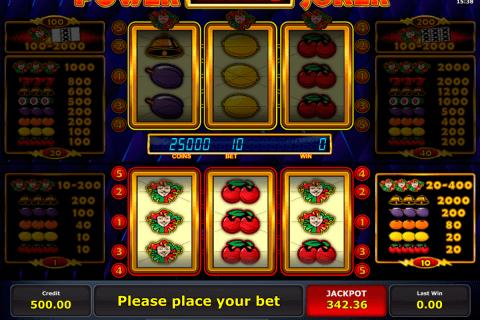 power joker novomatic automat online