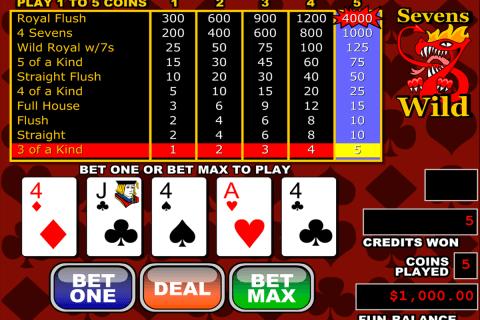 sevens wild video poker rtg video poker