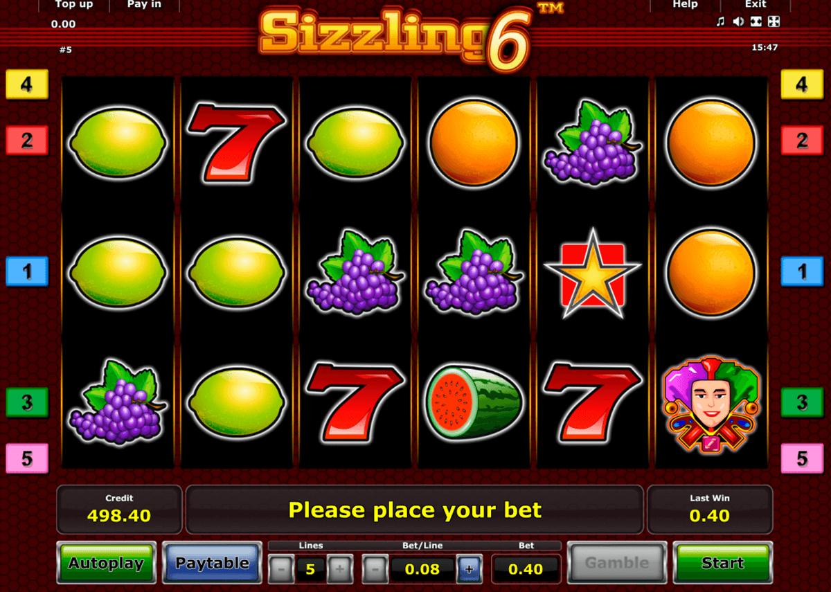 sizzling 6 novomatic automat online