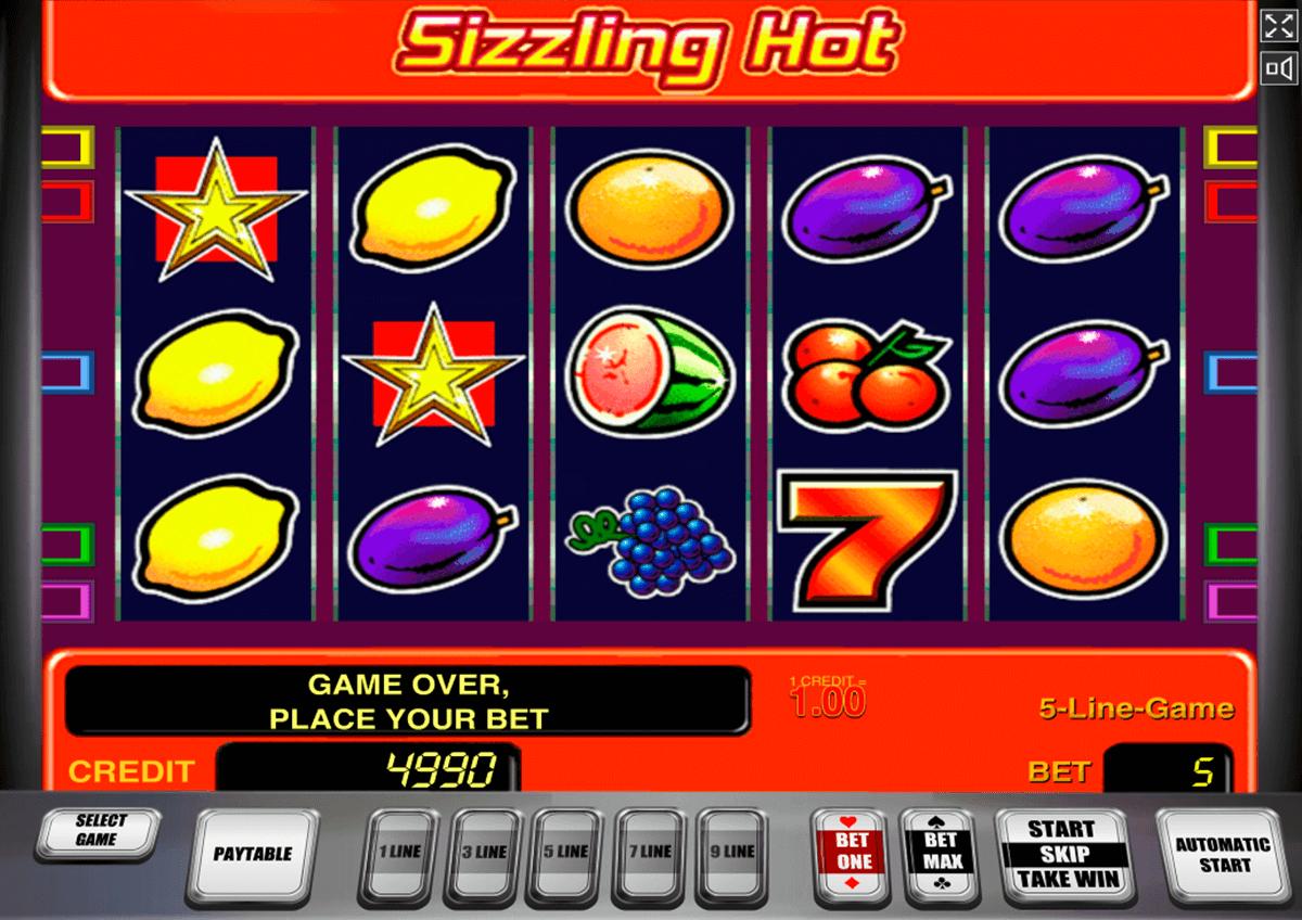 sizzling hot novomatic automat online
