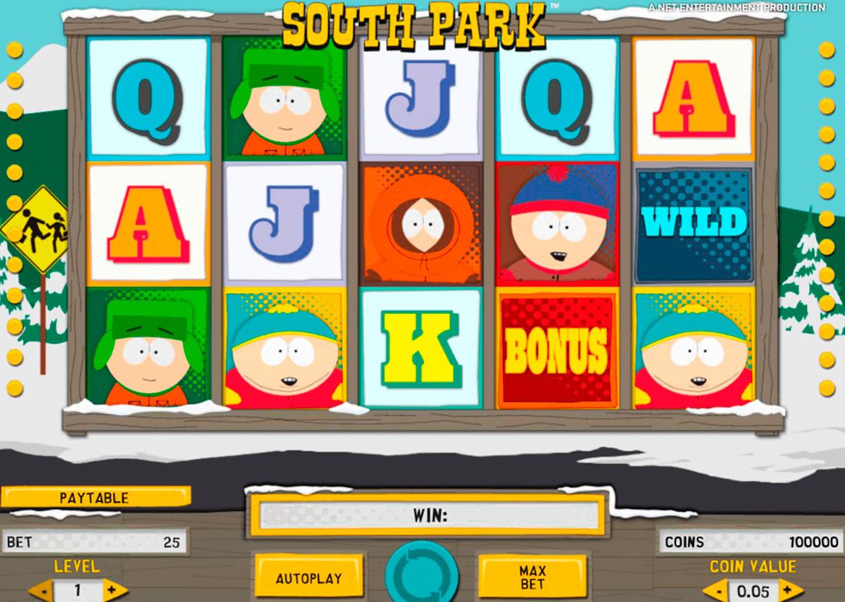 south park netent automat online