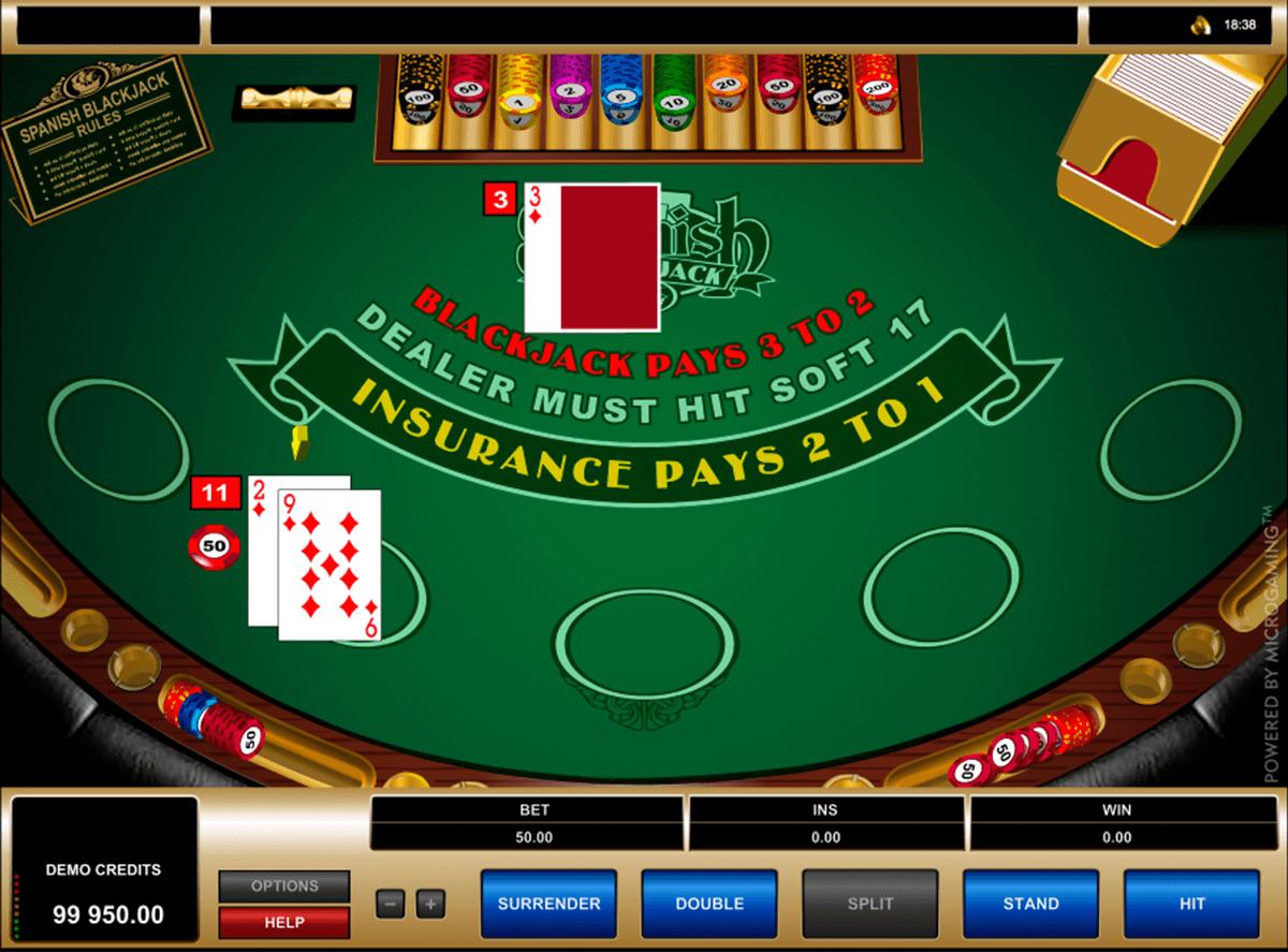 spanish blackjack microgaming blackjack online