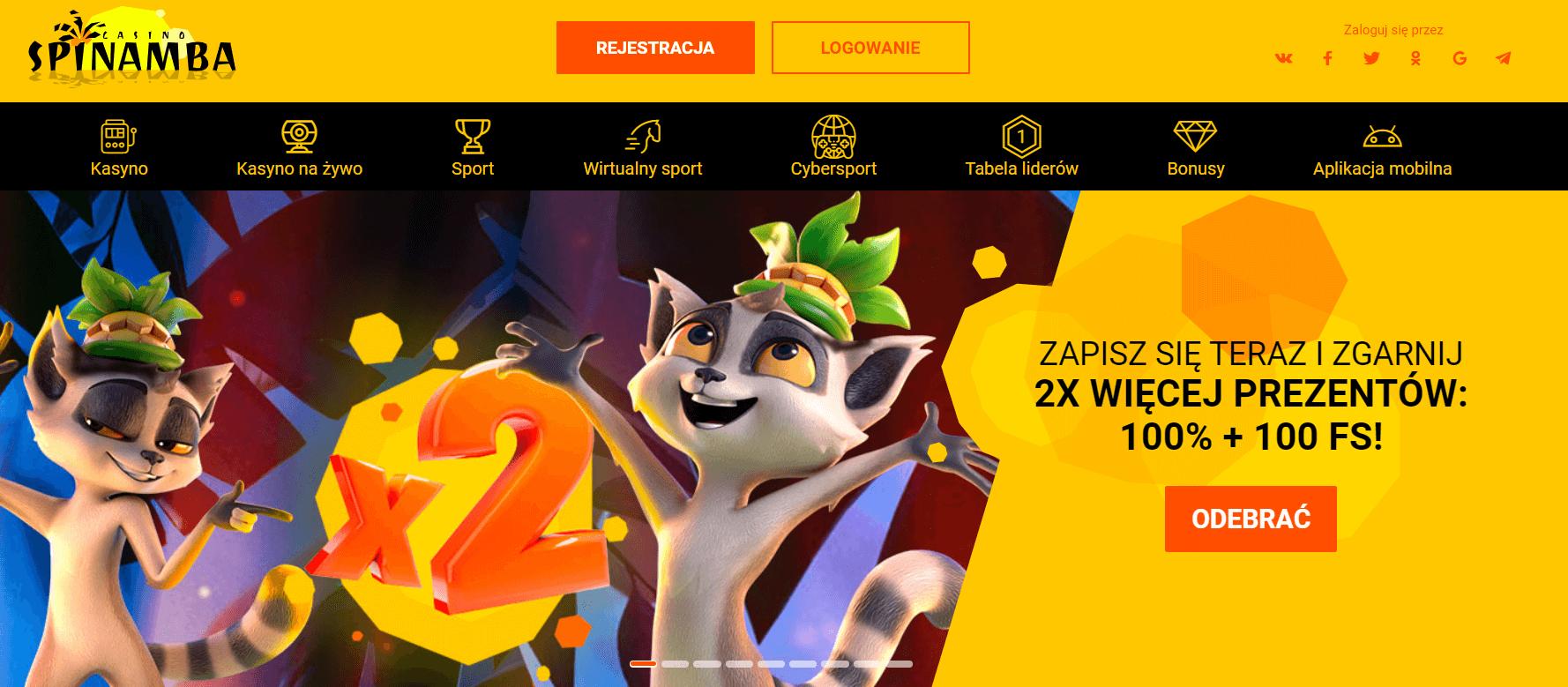 spinamba casino bonusy powitalne screenshot