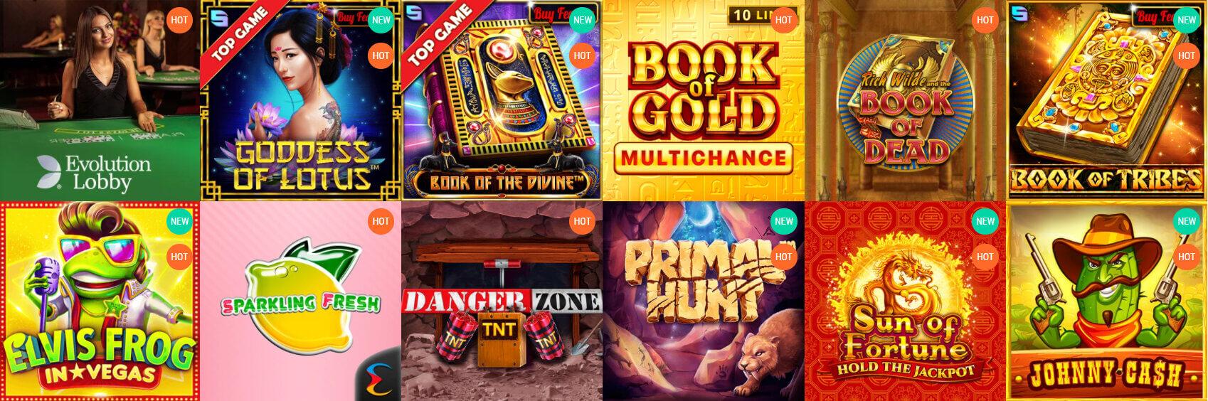 spinia oferta gier hazardowych screenshot