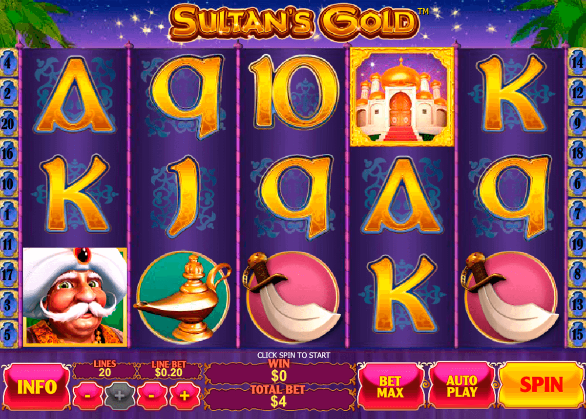 sultans gold playtech automat online