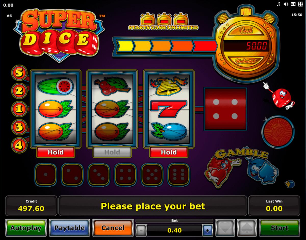 super dice novomatic automat online