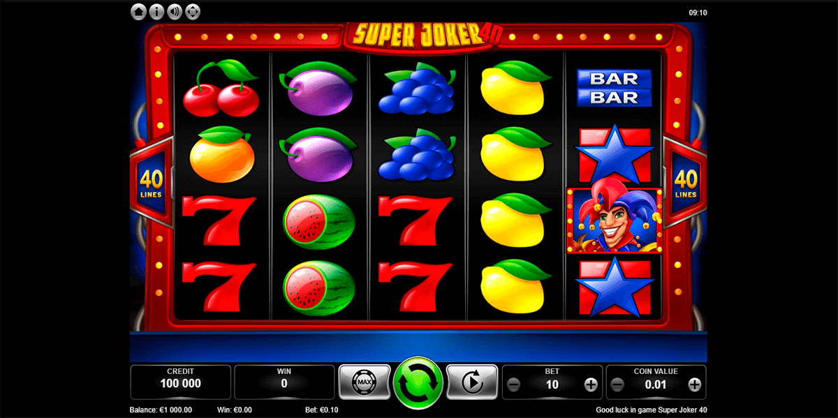 super joker 40 kajot automat online