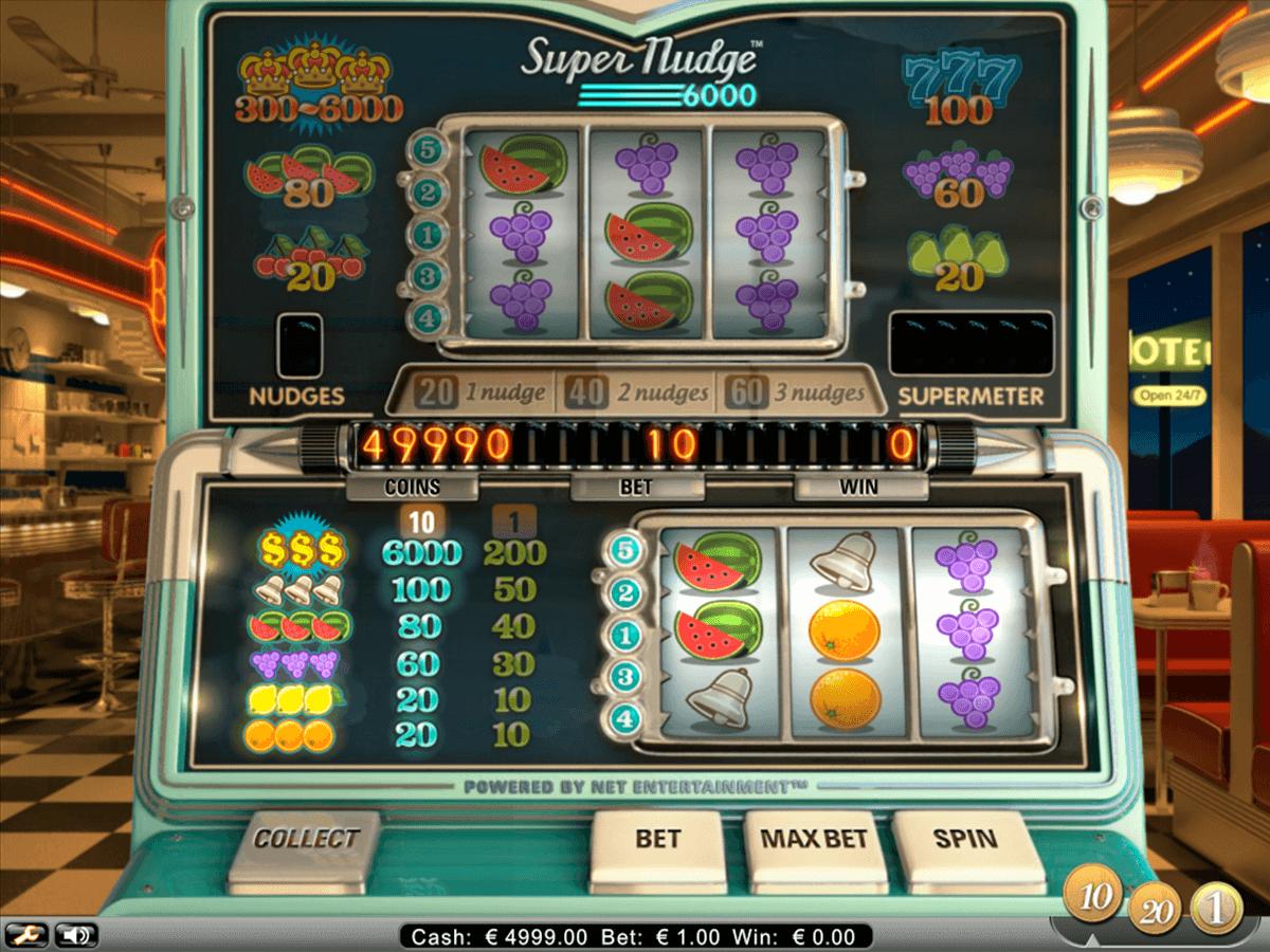 super nudge 6000 netent automat online