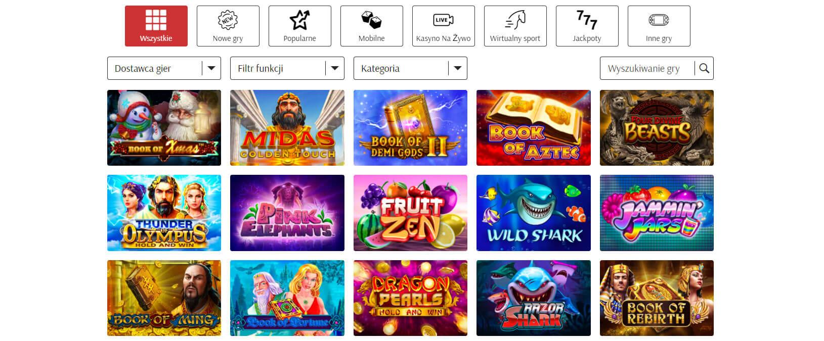 supercat oferta gier hazardowych screenshot