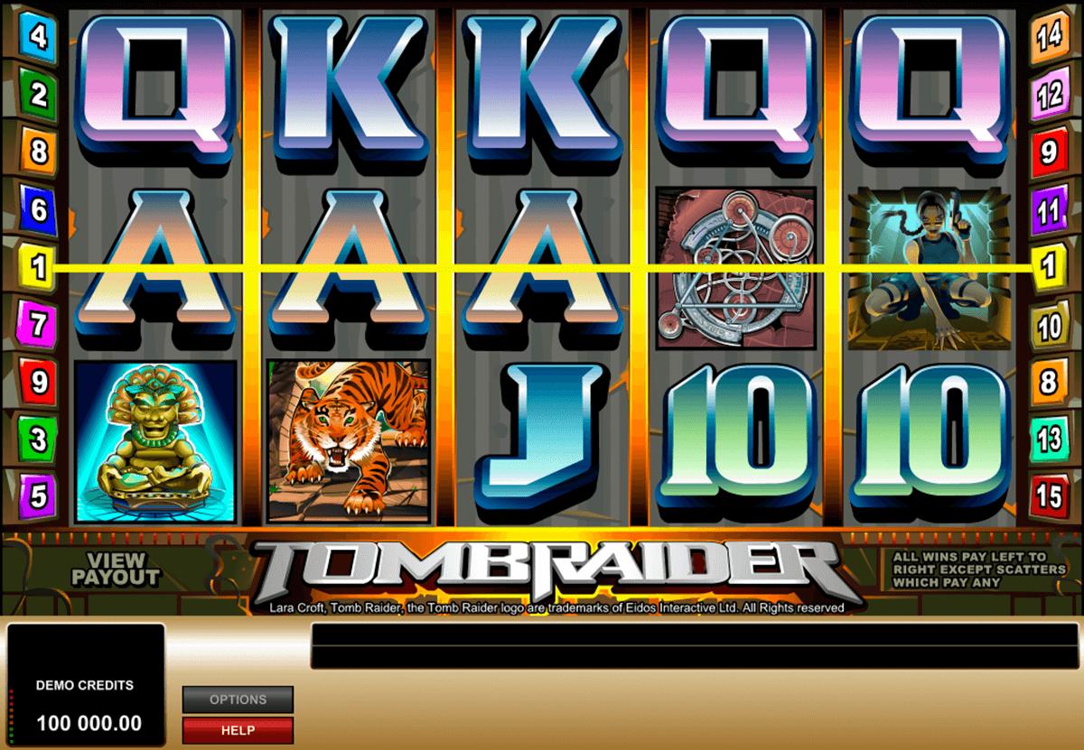 tomb raider microgaming automat online
