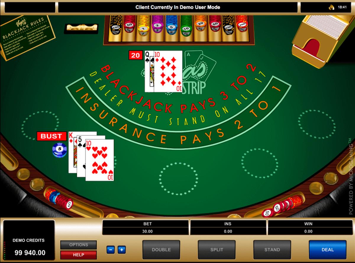 vegas strip blackjack microgaming blackjack online