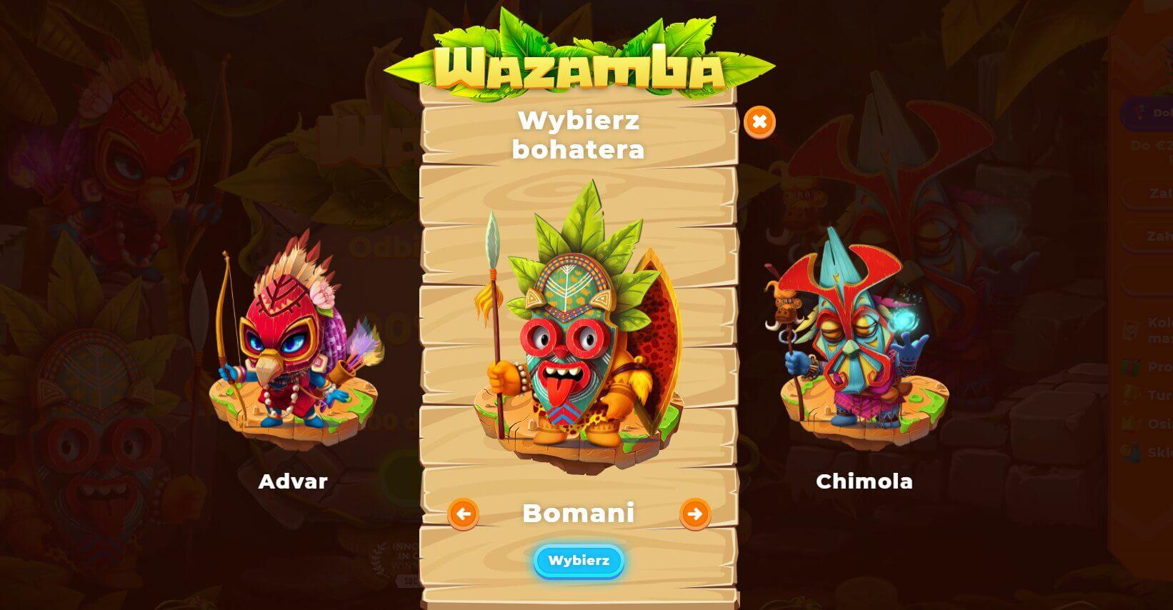 wazamba casino rejestracja screenshot