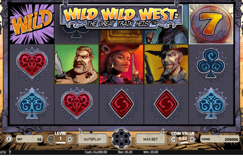 wild wild west the great train heist netent automat online